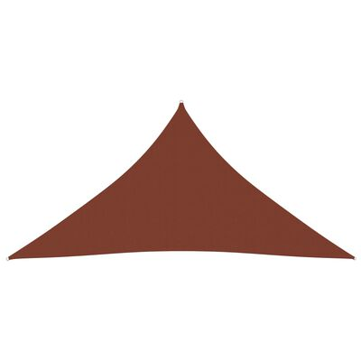 vidaXL Parasolar cărămiziu 4,5x4,5x4,5 m țesătură oxford triunghiular