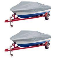 vidaXL Huse de barcă, 2 buc., gri, lungime 519-580 cm, lățime 244 cm