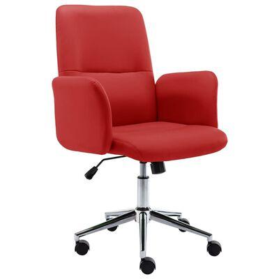 vidaXL Scaun de birou, roșu vin, piele ecologică