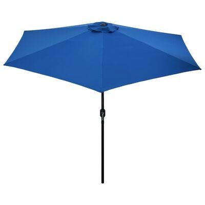 vidaXL Umbrelă de soare de exterior cu stâlp metalic, azur, 300 cm