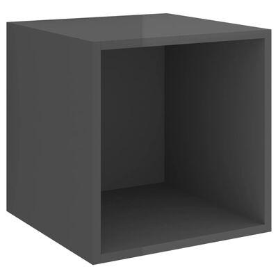 vidaXL Set dulap TV, 5 piese, gri extralucios, PAL