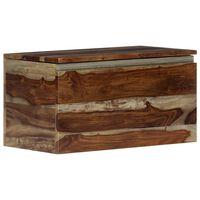 vidaXL Cufăr de depozitare, 30 x 30 x 57 cm, lemn masiv de sheesham