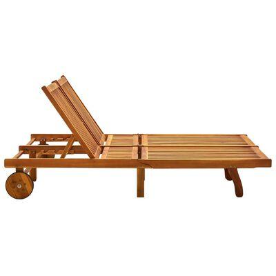 vidaXL Șezlong de grădină cu perne, 2 persoane, lemn masiv de acacia