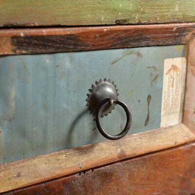 vidaXL Dulap din lemn masiv reciclat cu 4 setare
