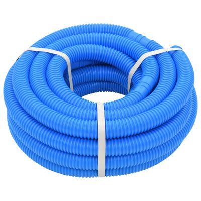 vidaXL Furtun de piscină cu cleme, albastru, 38 mm, 12 m