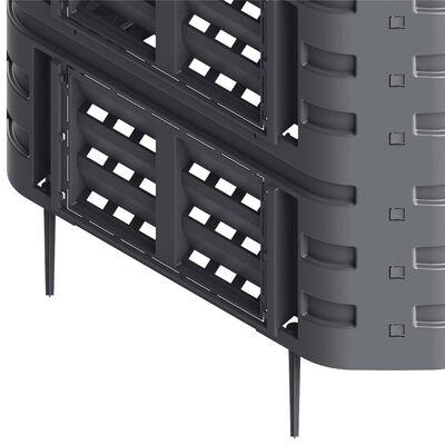vidaXL Compostor de grădină, negru, 93,3x93,3x146 cm, 1000 L