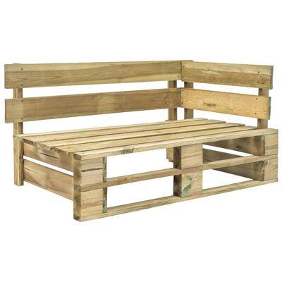 vidaXL Set mobilier paleți cu perne, 6 piese, lemn pin verde tratat