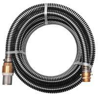 vidaXL Furtun de aspirație, conectori alamă, 4 m, 25 mm, negru