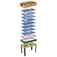 vidaXL Masă de jocuri 15-în-1, 121 x 61 x 82 cm, arțar