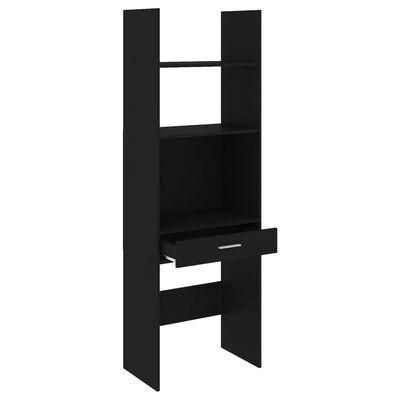 vidaXL Bibliotecă, negru, 60x35x180 cm, PAL