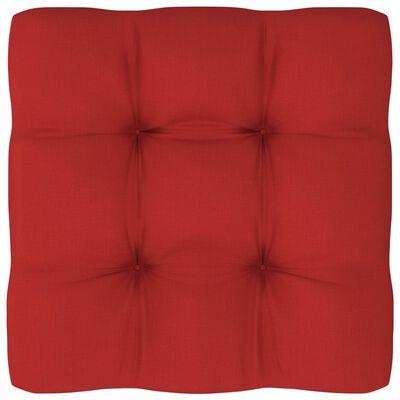 vidaXL Pernă pentru canapea din paleți, roșu, 60x60x12cm