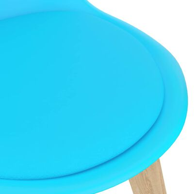 vidaXL Set de masă, 7 piese, albastru