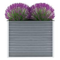vidaXL Strat înălțat de grădină, gri, 100x40x77 cm, oțel galvanizat