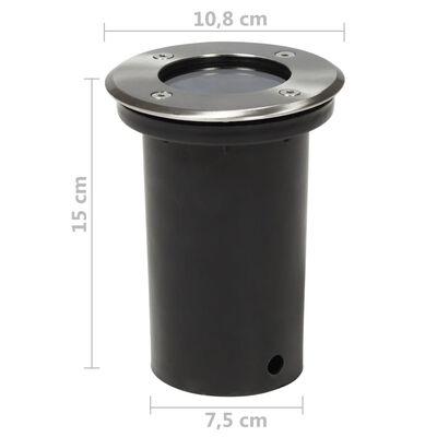 vidaXL Lămpi de sol pentru exterior, 12 buc., rotund (4x40393)