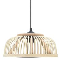 vidaXL Lampă suspendată, 30 x 12 cm, bambus, 40 W, semicerc, E27