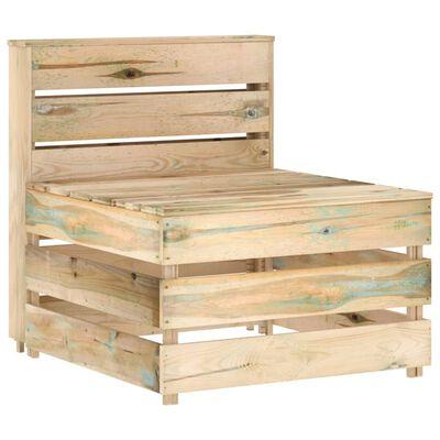 vidaXL Set mobilier de grădină, 12 piese, lemn de pin verde tratat