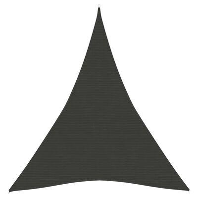 vidaXL Pânză parasolar, antracit, 4x5x5 m, HDPE, 160 g/m²