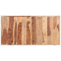 vidaXL Blat de masă, 140 x 70 cm, lemn masiv de sheesham, 16 mm