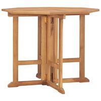 vidaXL Masă de grădină pliabilă, 90x90x75 cm, lemn masiv de tec