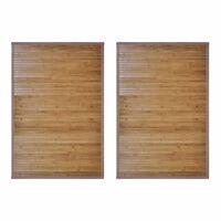 vidaXL Covorașe de baie din bambus, 2 buc., maro, 60 x 90 cm