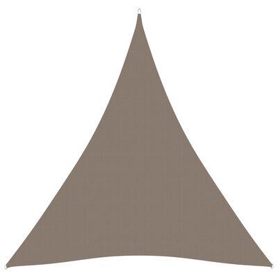 vidaXL Parasolar, gri taupe, 4x4x4 m, țesătură oxford, triunghiular