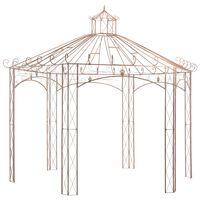 vidaXL Pavilion de grădină, maro antichizat, 4 m, fier
