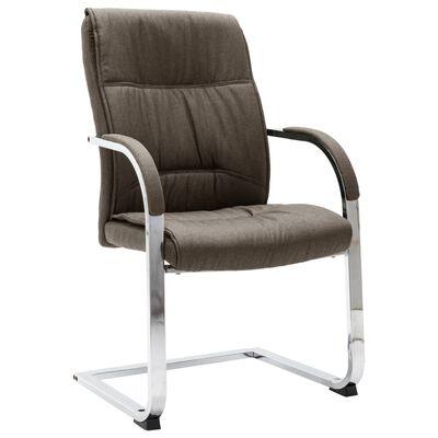 vidaXL Scaun de birou tip consolă, gri taupe, material textil