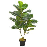 vidaXL Plantă artificială ficus cu ghiveci, verde, 90 cm