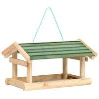 vidaXL Hrănitor de păsări, 35x29,5x21 cm, lemn masiv