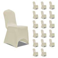 vidaXL Huse elastice pentru scaun, 18 buc., crem