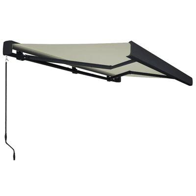 vidaXL Copertină manuală tip casetă, crem, 400 x 300 cm