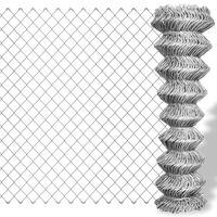 vidaXL Gard legătură din plasă, argintiu, 15 x 1,25 m, oțel galvanizat