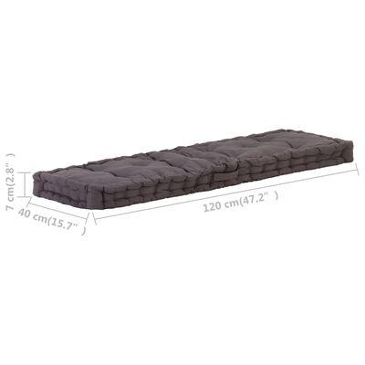 vidaXL Perne de podea pentru paleți, 2 buc., antracit, bumbac