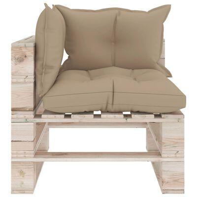 vidaXL Set mobilier grădină din paleți, 7 piese, cu perne, lemn de pin