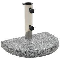vidaXL Suport umbrelă de soare, gri, granit, 10 kg, curbat