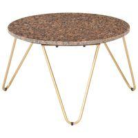 vidaXL Măsuță de cafea maro 65x65x42 cm piatră naturală aspect marmură