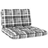vidaXL Perne canapea din paleți, 2 buc., gri, model carouri