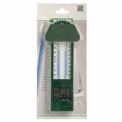 Nature Termometru digital de exterior min-max, 9,5 x 2,5 x 24 cm