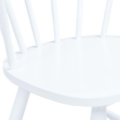 vidaXL Scaune de bucătărie, 4 buc., alb, lemn masiv de hevea