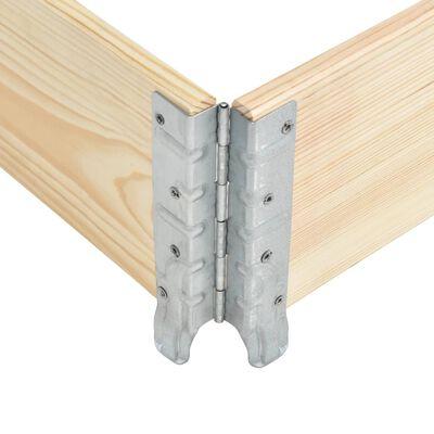 vidaXL Ramă pentru paleți, 100 x 100 cm, lemn masiv de pin