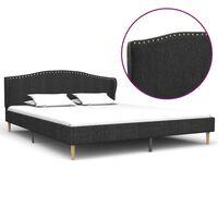 vidaXL Cadru pat, gri închis, 160 x 200 cm, material textil