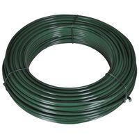 vidaXL Fir de tensionare pentru gard, 55 m, 2,1/3,1 mm, oțel, verde