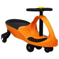 vidaXL Mașinuță de jucărie fără pedale cu claxon, portocaliu