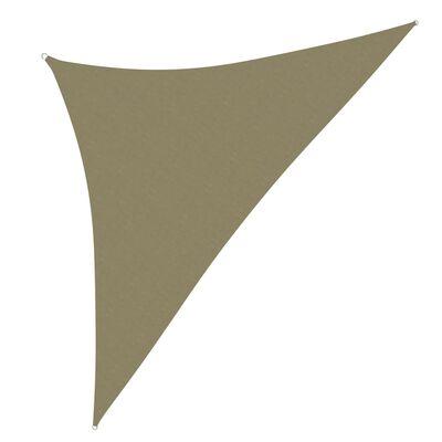 vidaXL Parasolar, bej, 4x4x5,8 m, țesătură oxford, triunghiular