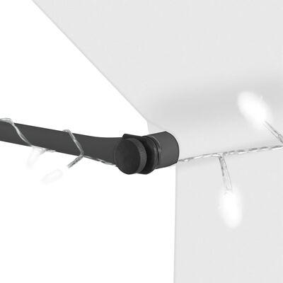vidaXL Copertină retractabilă manual cu LED, crem, 150 cm