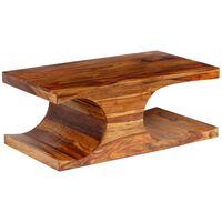 vidaXL Masă de cafea, lemn masiv de palisandru 90x50x35 cm