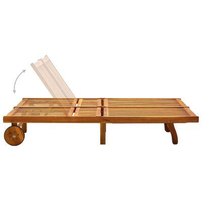vidaXL Șezlong de grădină cu perne, 2 persoane, lemn masiv acacia