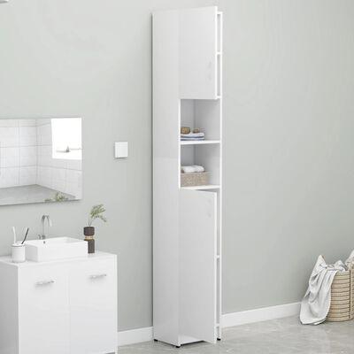 vidaXL Dulap de baie, alb, 32 x 25,5 x 190 cm, PAL