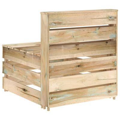 vidaXL Set mobilier de grădină, 8 piese, lemn de pin verde tratat