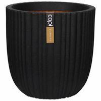 Capi Jardinieră în formă de ou Urban Tube, negru, 43x41 cm, KBLT933